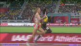 Końcówka półfinałowego biegu 4x400 m kobiet