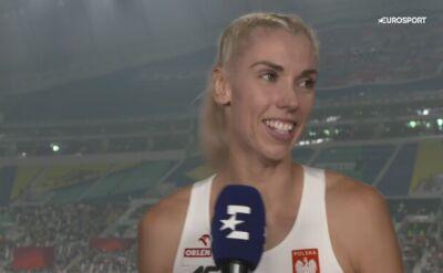 Iga Baumgart-Witan wzruszona po awansie do finału 400 metrów