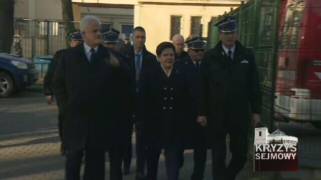 Beata Szydło nie chciała rozmawiać z dziennikarzami