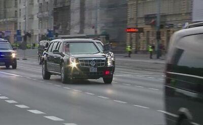 """""""Bestia"""" Obamy w drodze na lotnisko Chopina"""