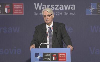 Waszczykowski: od 2017 r. nawet 10 tys. wojsk NATO w Polsce