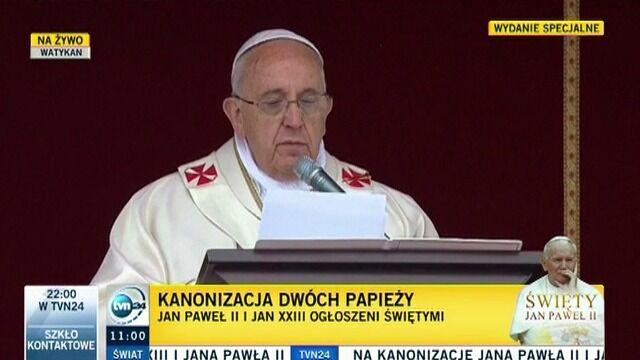 Cała homilia papieża Franciszka