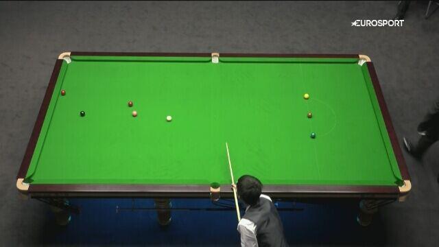 Bingyu Chang z brejkiem 111 podczas meczu European Masters