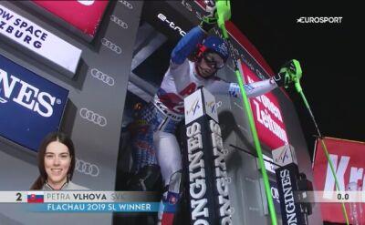 Petra Vlhova prowadzi po pierwszym zjeździe slalomu w Flachau