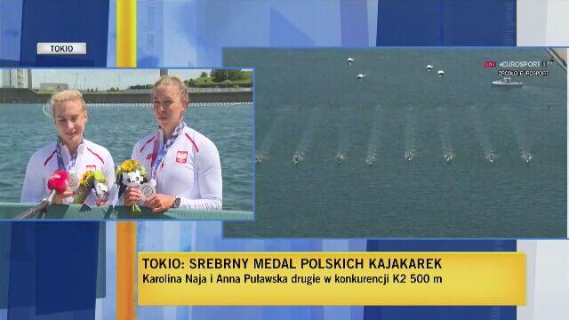 Karolina Naja i Anna Puławska po ceremonii medalowej