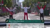 Tokio. Ceremonia kwiatowa po zwycięstwie Dawida Tomali w chodzie sportowym na 50km