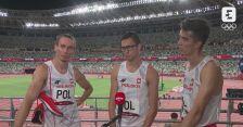 Tokio. Lekkoatletyka: rozmowa z męską sztafetą 4x400 m po zajęciu 5. miejsca w finale