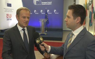 Tusk w rozmowie z TVN24 BiS: nie będzie kolejnych wyjść z UE