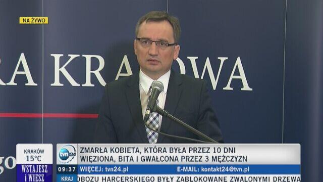 Ziobro: sprawą zajmie się prokuratura wyższego szczebla