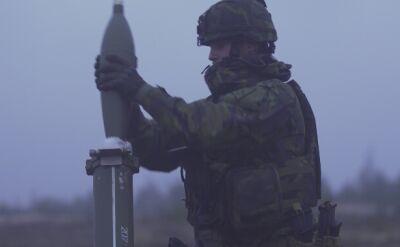 Moździerze na łotewskim poligonie
