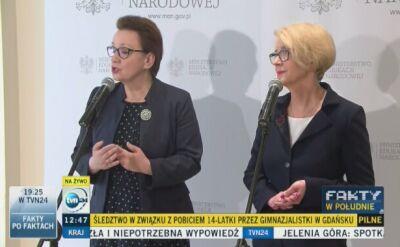 Minister Edukacji o sprawie pobicia gimnazjalistki
