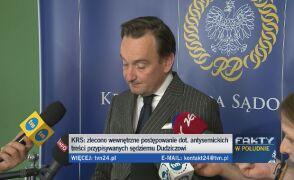 Dudzicz w oświadczeniu: do czasu wyjaśnienia sprawy wpisów zawieszam aktywność jako zastępca rzecznika KRS