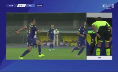 Czerwona kartka Mariusza Stępińskiego w meczu z Milanem