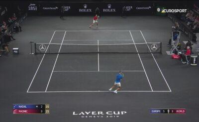 Skrót meczu Nadal - Raonic w Pucharze Lavera