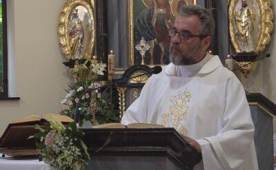 Mszę odprawiał proboszcz parafii w Mrowinach