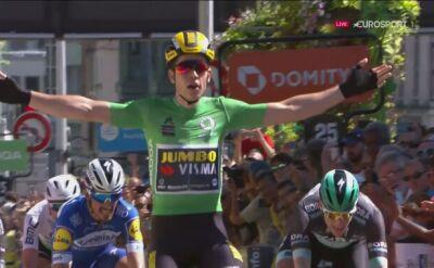 Wout Van Aert znów najlepszy. Tym razem po sprinterskim finiszu