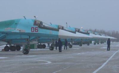 Rosyjskie Su-34 w Kraju Chabarowskim na Dalekim Wschodzie