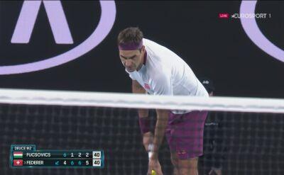 Piłka meczowa w starciu Federera z Fucsovicsem