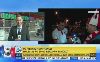 Polska reprezentacja wraca do kraju rządowym samolotem