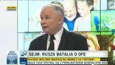 Jarosław Kaczyński o zmianach w OFE