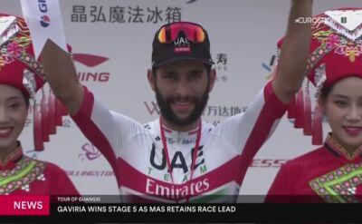 Gaviria wygrał 5. etap Tour of Guangxi, Mas liderem