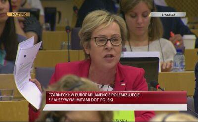 Jadwiga Wiśniewska podczas debaty