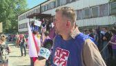 Protest pracowników Huty Szkła