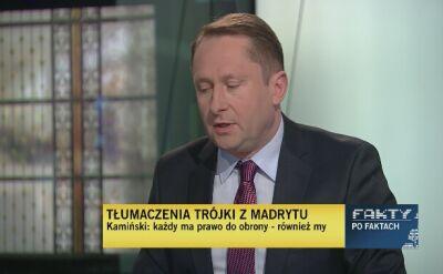 Mariusz A. Kamiński tłumaczy się z afery madryckiej