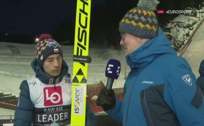 Rozmowa z Kamilem Stochem po kwalifikacjach w Trondheim