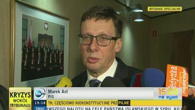 Marek Ast: Trybunał nie jest organem właściwym do oceny konstytucyjności uchwał Sejmu
