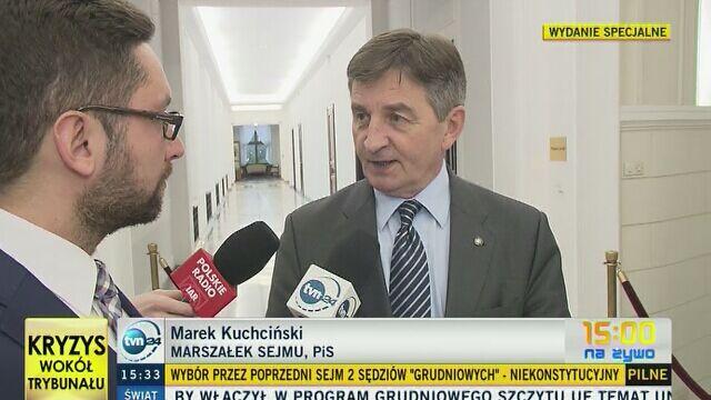 Marek Kuchciński: to jest kompromitacja dla Trybunału Konstytucyjnego