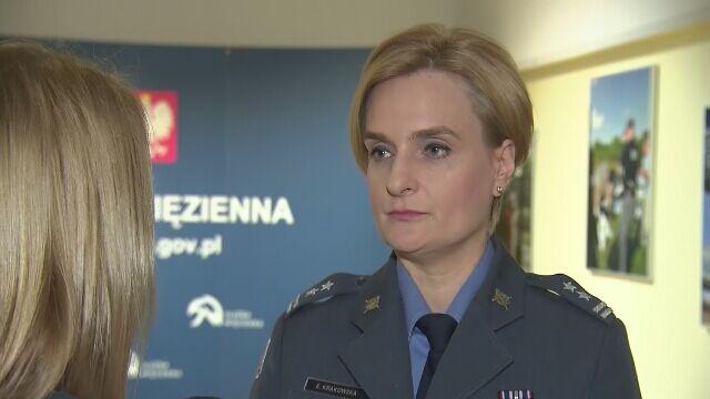 Rozmowa z rzeczniczką Służby Więziennej podpułkownik Elżbietą Krakowską z 17 stycznia