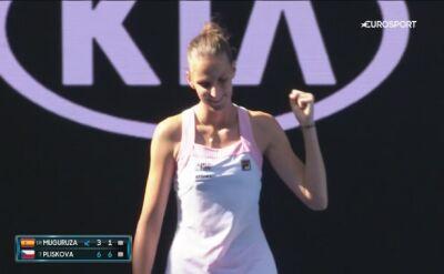 Skrót meczu Muguruza - Pliskova w 4. rundzie Australian Open