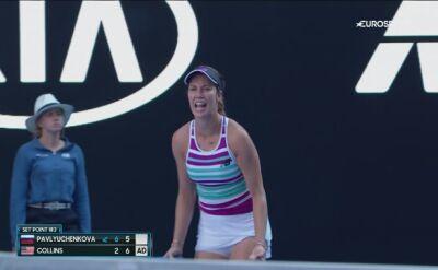 Skrót meczu Pawluczenkowa - Collins w ćwierćfinale Australian Open