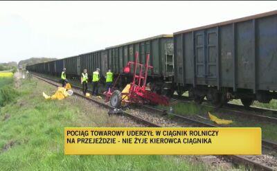 Pociąg uderzył w traktor
