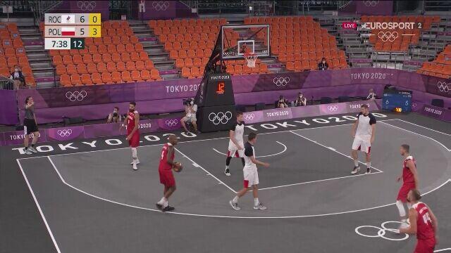 Tokio. Koszykówka mężczyzn 3x3 ROC-Polska. Ładny rzut Zamojskiego
