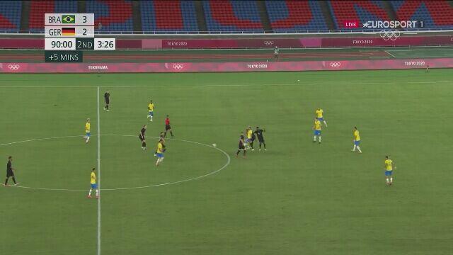Tokio. Piłka nożna mężczyzn. Brazylia - Niemcy 4:2 (gol Paulinho)