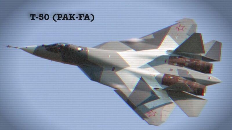 Rosyjski myśliwiec T-50 na pokazach