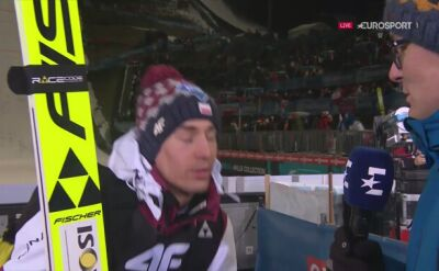 Kamil Stoch po kwalifikacjach w Bischofshofen