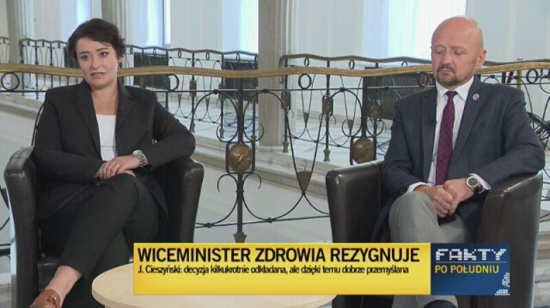 Żukowska i Bury komentują odejście wiceministra zdrowia