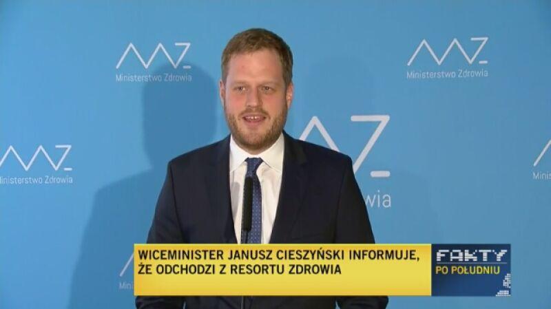 Wiceminister zdrowia odchodzi ze stanowiska. Komentarz dziennikarza tvn24.pl Szymona Jadczaka