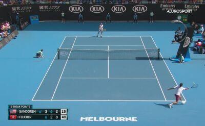 Federer dostał ostrzeżenie od sędzi