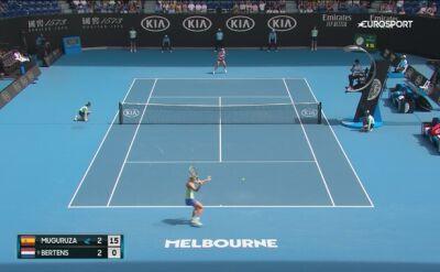 Skrót meczu Muguruza - Bertens w 4. rundzie Australian Open