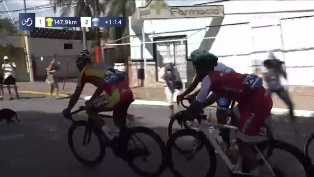 Pies na trasie 2. etapu Vuelta a San Juan