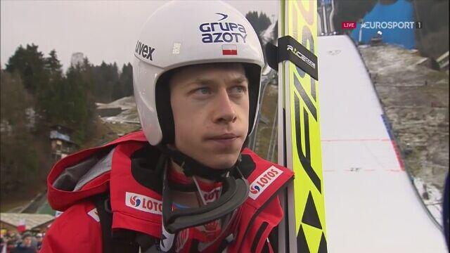 Aleksander Zniszczoł po konkursie w Garmisch-Partenkirchen