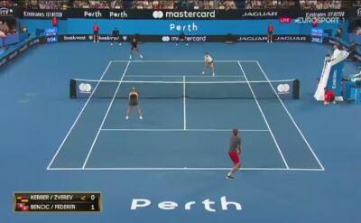 Skrót meczu Kerber/Zverev - Bencic/Federer w Pucharze Hopmana