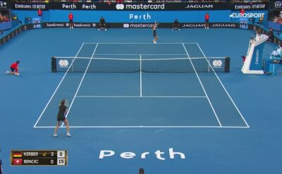 Skrót meczu Angelique Kerber - Belinda Bencic w Pucharze Hopmana