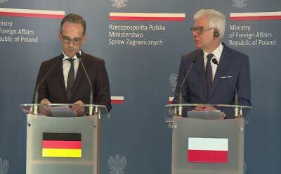 Szef MSZ Niemiec: odpowiedzialność za cierpienia zadane Polakom będzie dla nas zawsze ważna