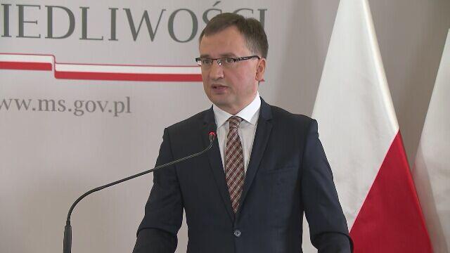 Ziobro: resort nie inicjował działań związanych z postępowaniami dyscyplinarnymi