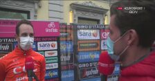 Josef Cerny po wygraniu 19. etapu Giro d'Italia